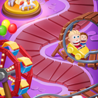 Toy 2D Levels Games Match-3 Amusement Park