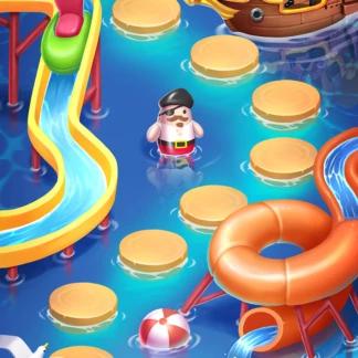 Toy Blast 2D Game Map Background Match-3 Sea Aquapark