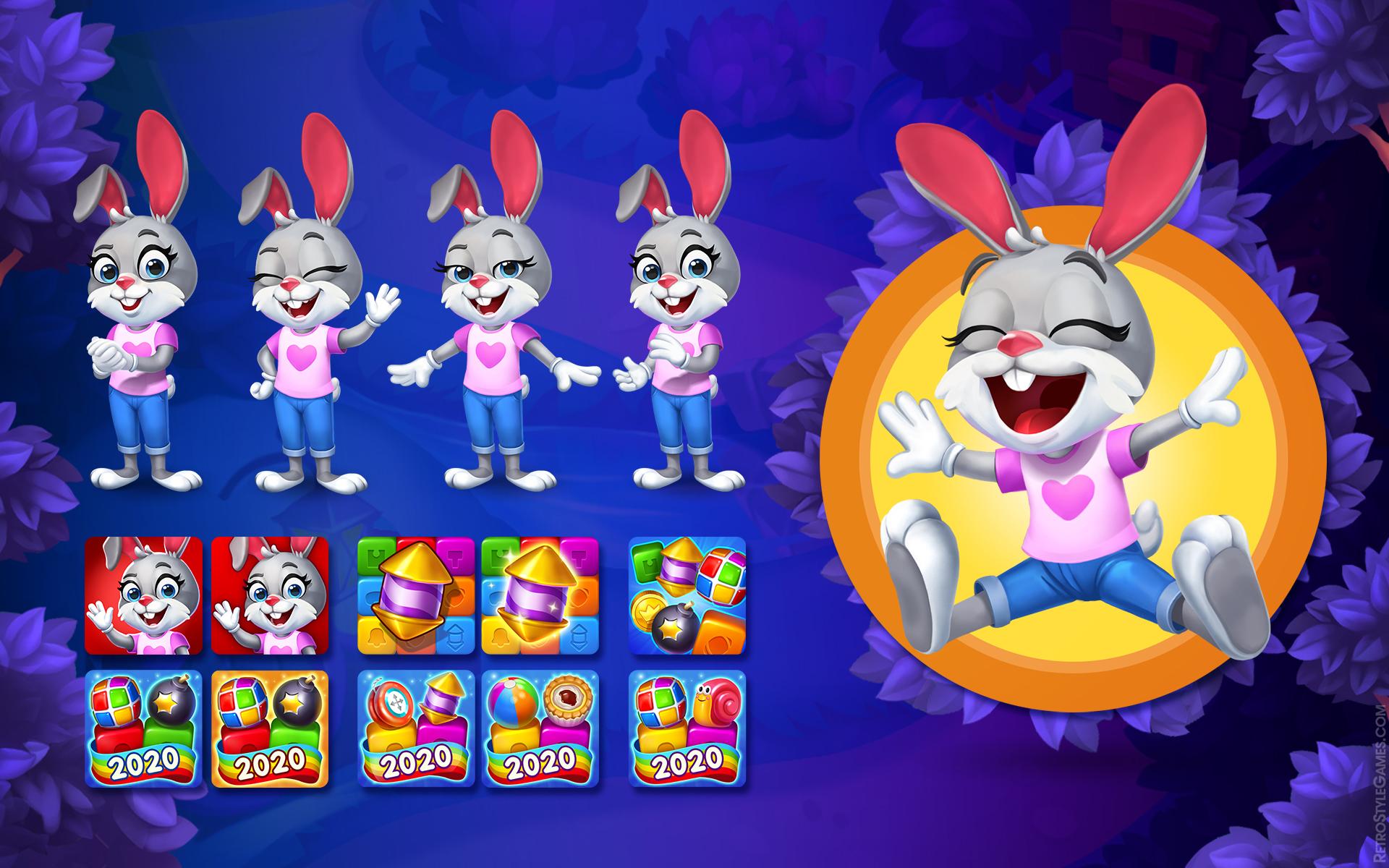 Toy Character Rabbit Looney Tunes App Icon Variants