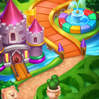 Toy Tap 2D Background Game Map Match-3 Castle