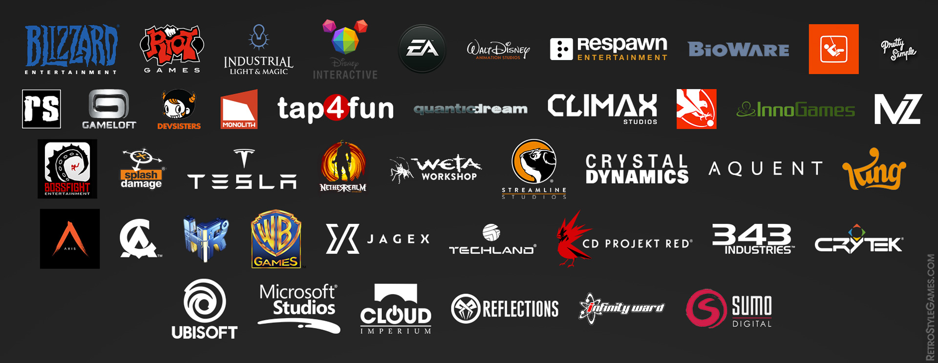Top AAA Game Developers List Logo