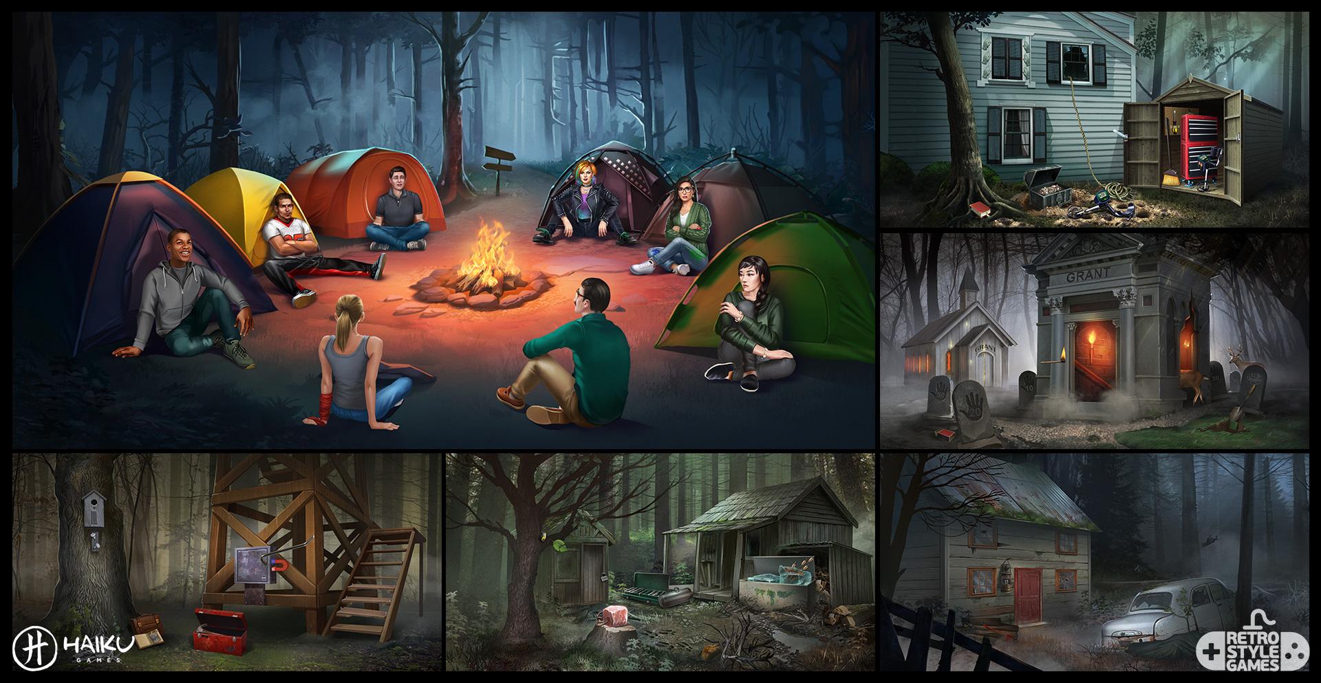 Haiku 2D Backgrounds Horror Stories Camp Abandoned House