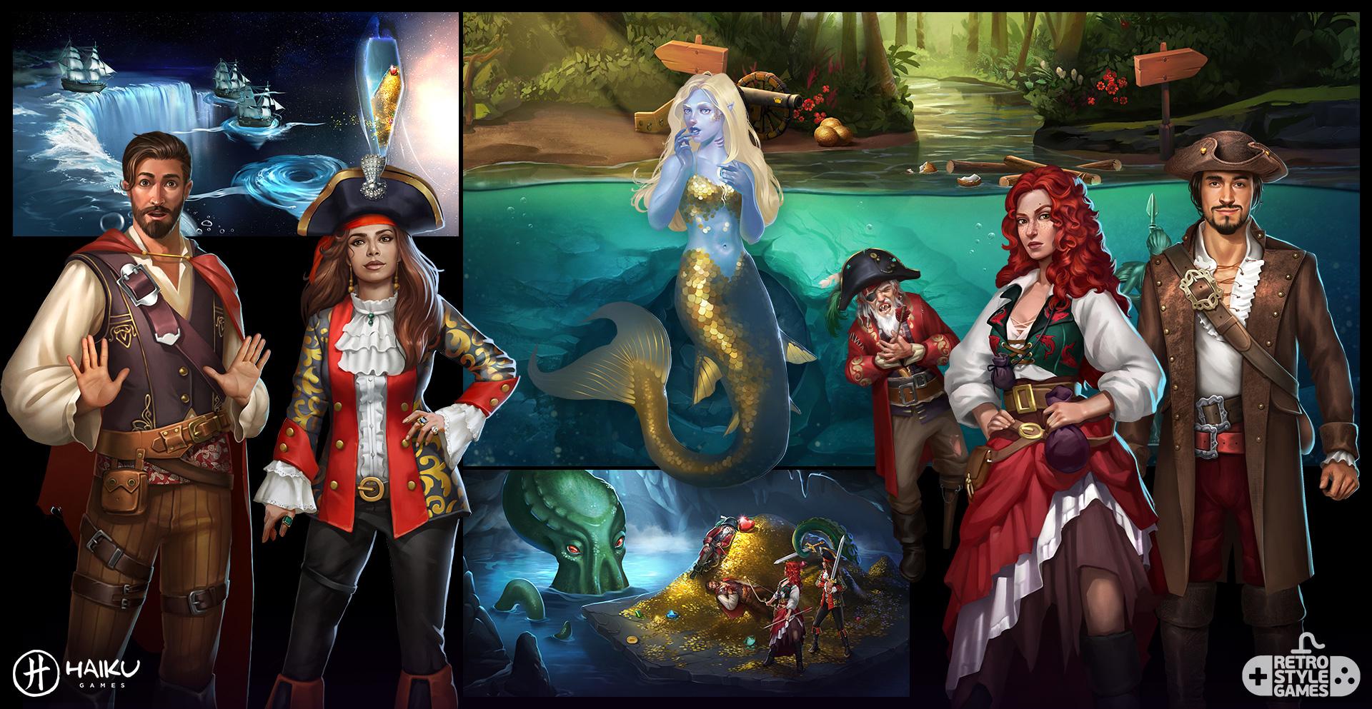Haiku 2D Character Background Pirate Treasure Sea of Thieves