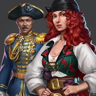 Haiku 2D Characters Admiral Thief Captain Spirit
