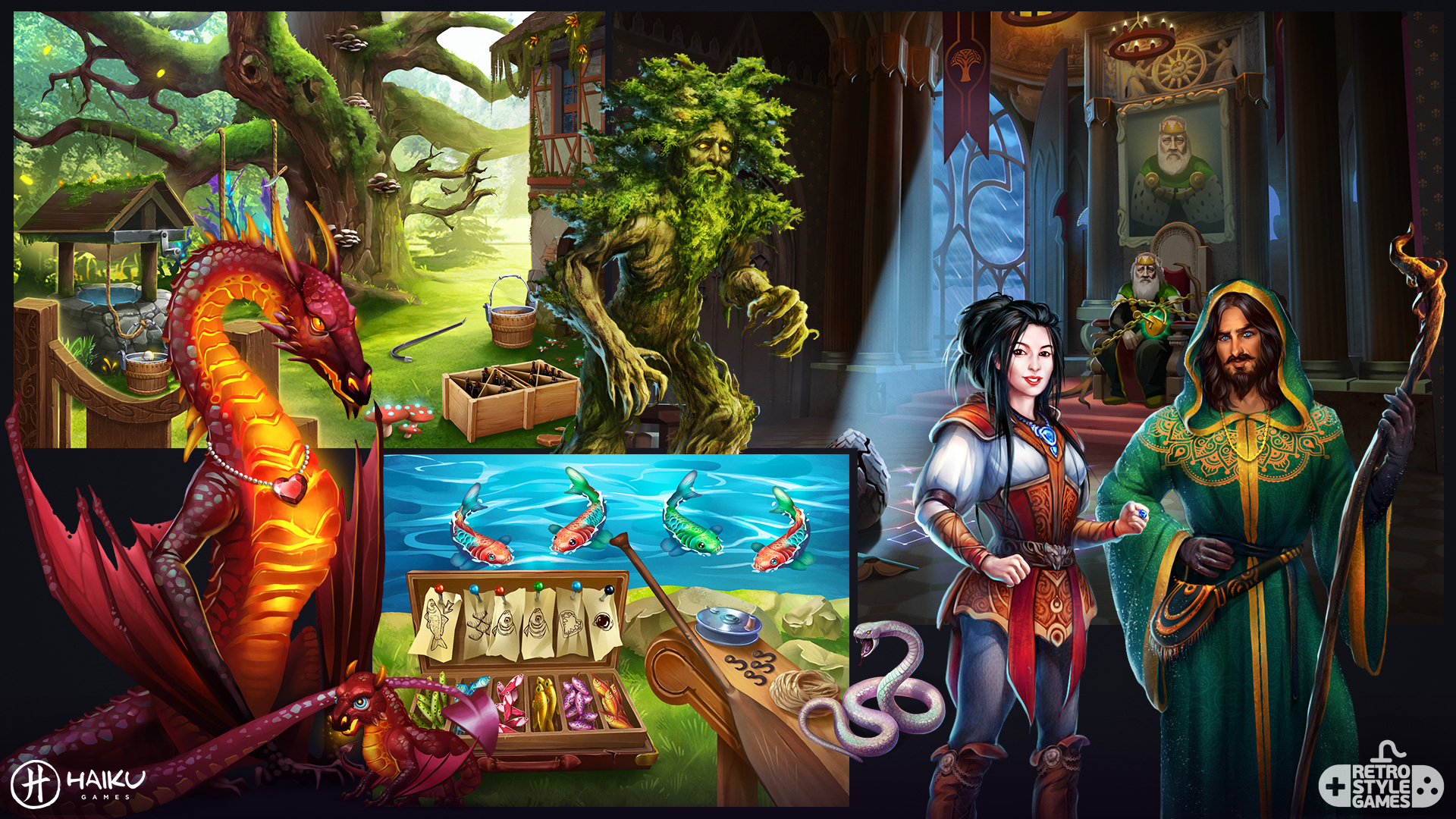 Haiku 2D Characters Background Throne Room Wizard