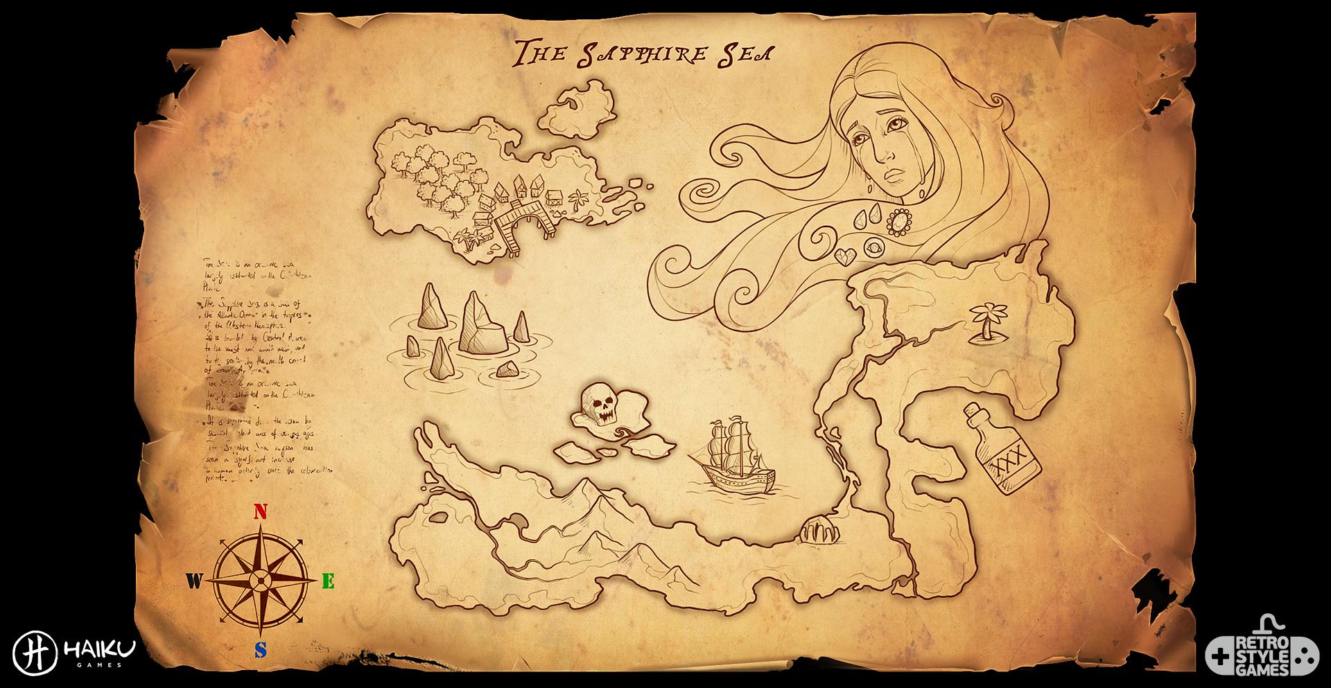 Haiku HOG 2D Background Pirate Treasure Map