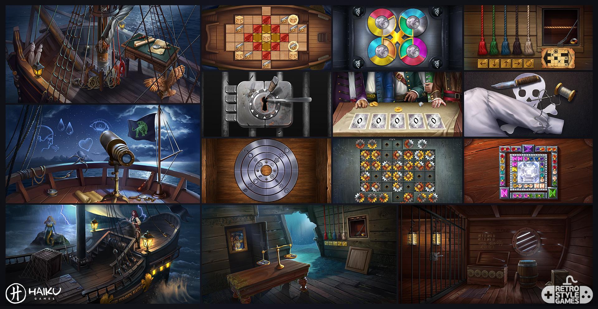 Haiku HOG 2D Background Puzzle Pirate Ship