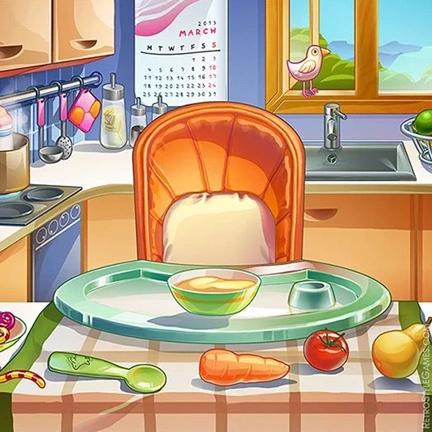 2D Cartoon Stylized Background Kids Sandbox Swing