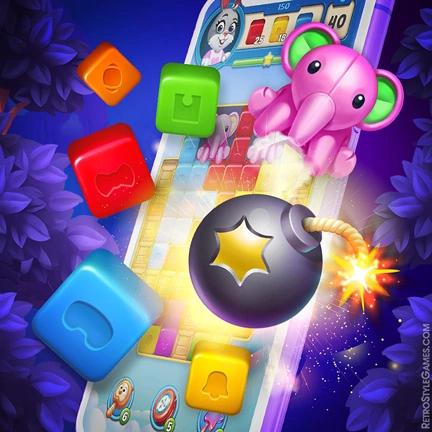 2D Game Map Background Level Design Toy Blast Match-3