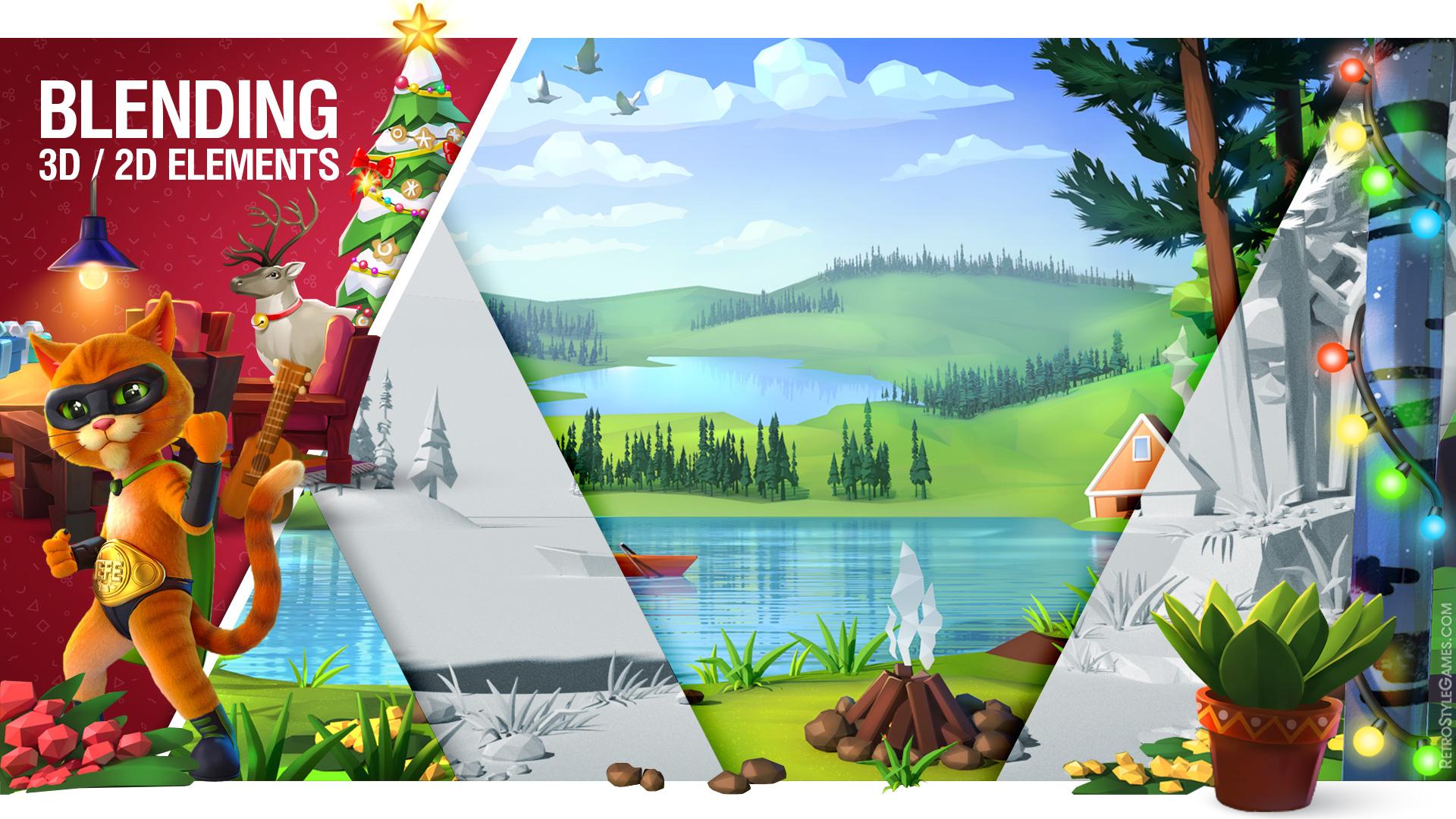 Blending 2D 3D Modeling Background Environment Concept Art