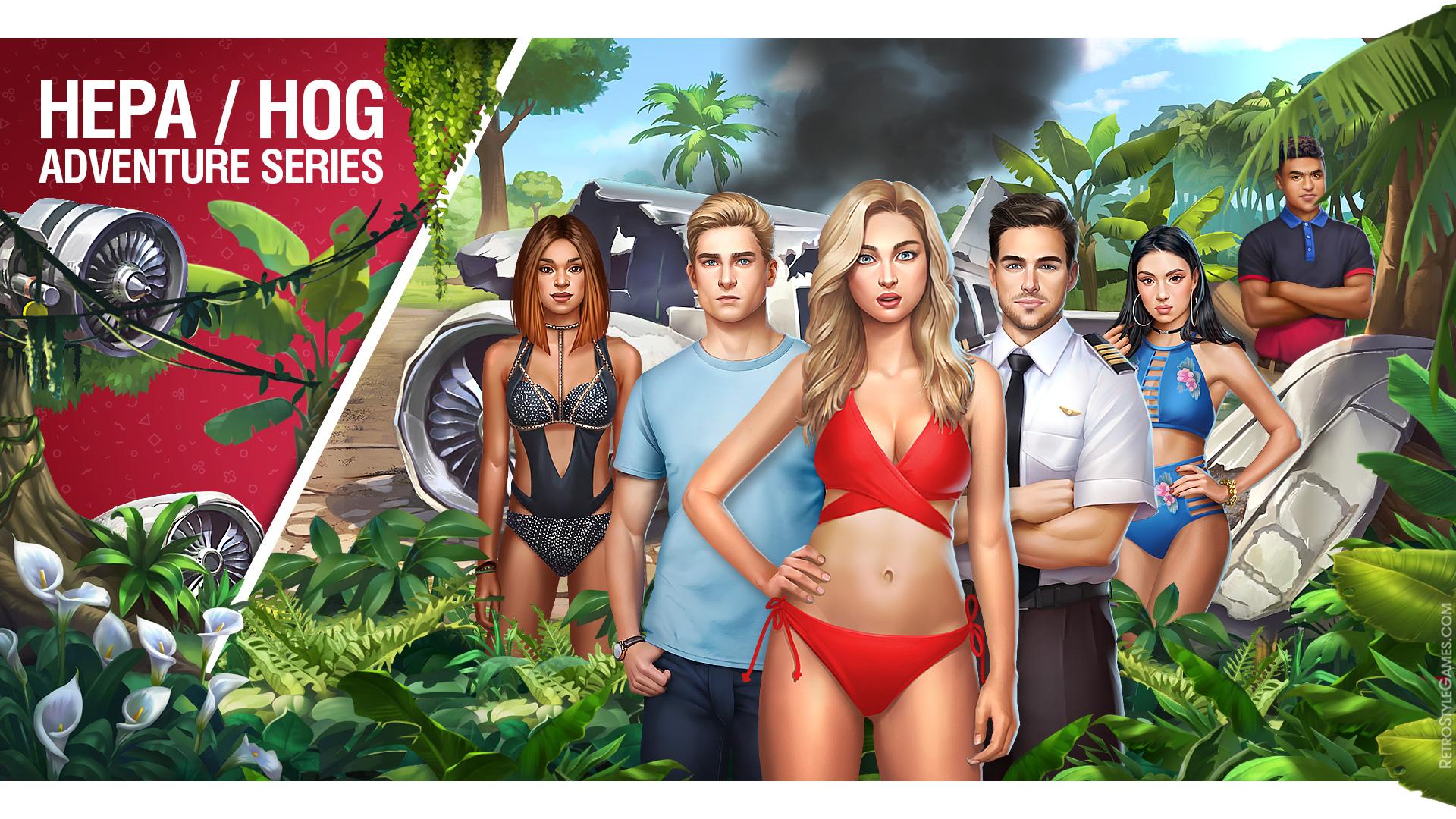Fantasy Adventure 2D Game Background HOG Choose Lost