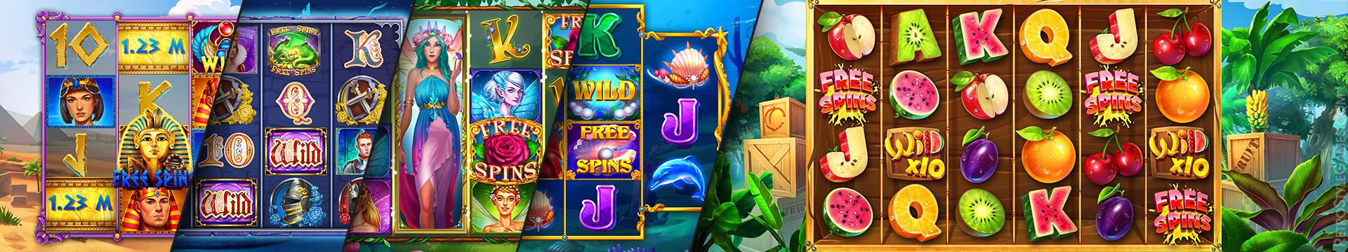 Game 2D Background Slot Machine Treasure Fruit