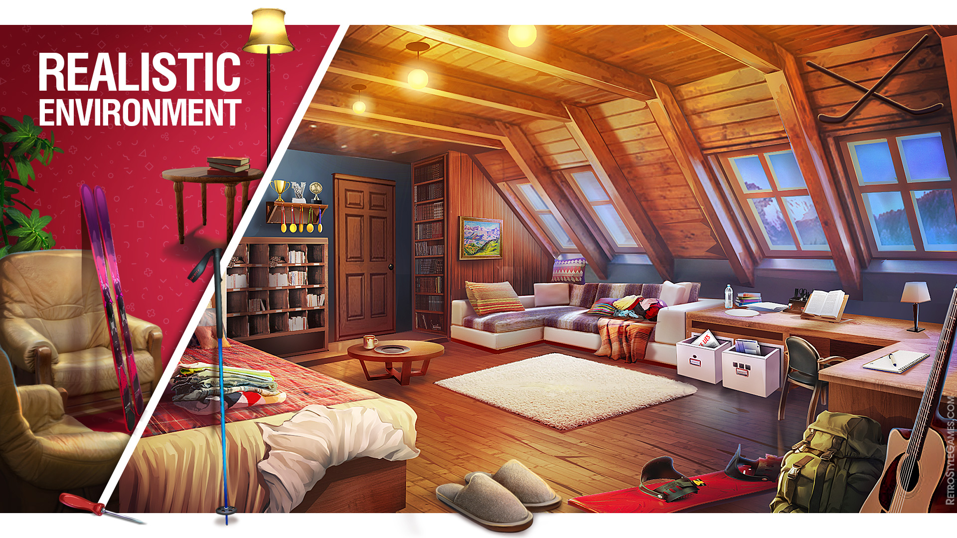 Game Background Realistic Environment Concept Art Interior
