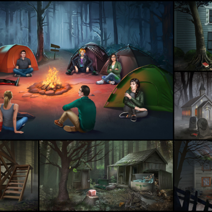 Haiku 2D Realistic Background Horror Stories Abandoned House