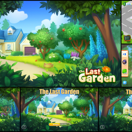 Making of Game Background Last Garden Homescapes