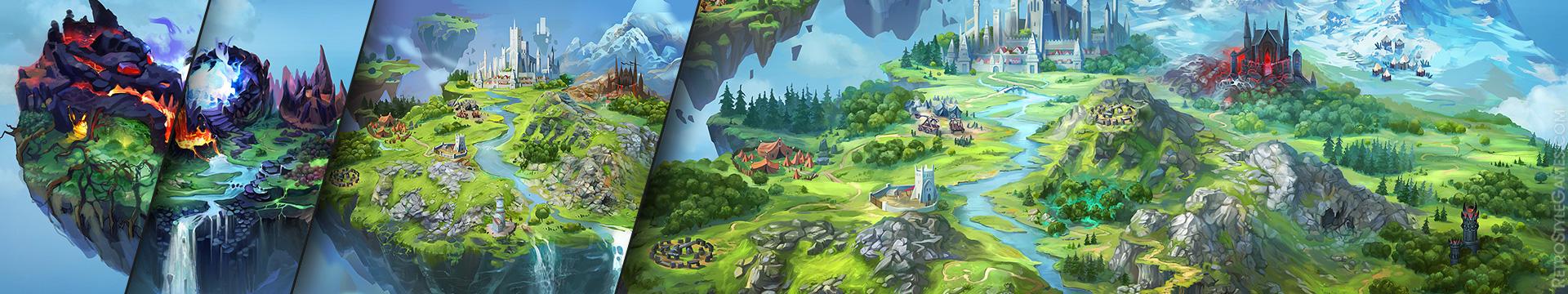 Making of Game Background Level Design Island