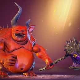 3D Game Character Chess Stylized Rigging Animation Hell Monster
