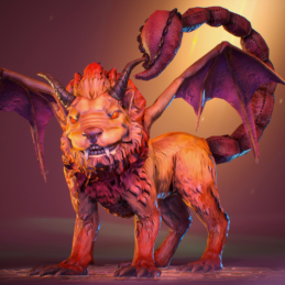 3D Game Character Chess Stylized Rigging Animation Manticore