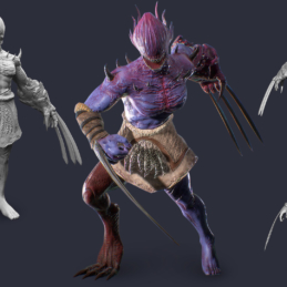 3D Modeling Character Rigging Animation Abomination Wolverine