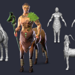 3D Modeling Character Rigging Animation Ancient Centaur