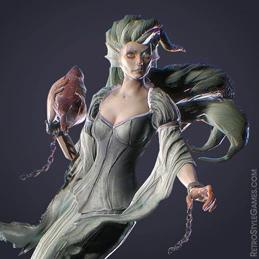 3D Modeling Character Rigging Animation Banshee Mermaid