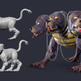 3D Modeling Character Rigging Animation Cerberus