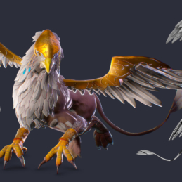 3D Modeling Character Rigging Animation Griffin