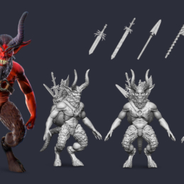 3D Modeling Character Rigging Animation Imp Rogue