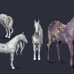 3D Modeling Character Rigging Animation Kelpie Horse