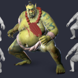 3D Modeling Character Rigging Animation Sumo Ork