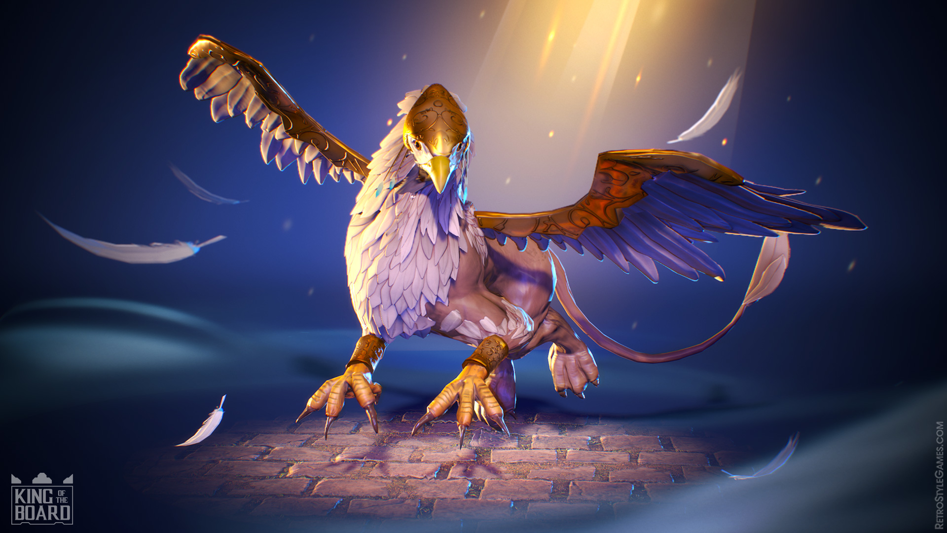 3D Stylized Chess Modeling Rigging Animation Animals Griffin
