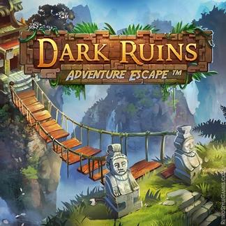 Adventure HOG Game Logo Design Concept Ruins
