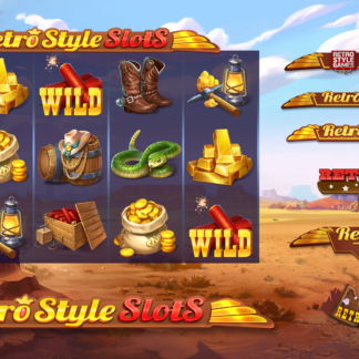 Cartoon Stylized Game Logo Design WIP Slots