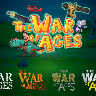 Cartoon Stylized Game Logo Design WIP War of Ages