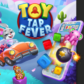 Casual Game Logo Design Concept Toy Tap Fever