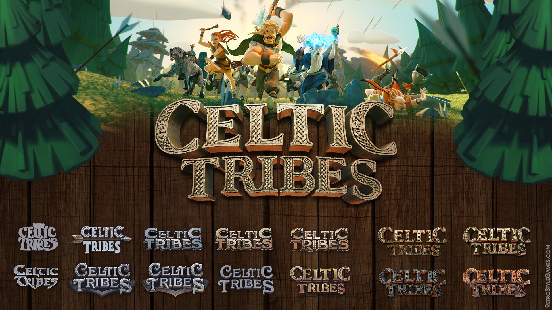 Game 3D Logo Design Concept Variant Celtic Tribes