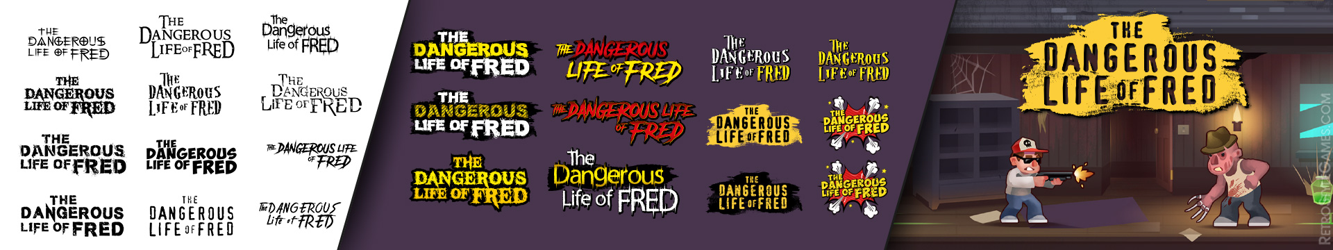 Font for Game Logo WIP Dangerous Life of Fred