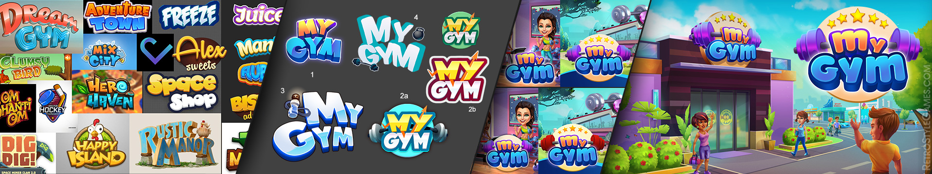 Gaming Logo Concept Ref Draft Variant WIP My Gym