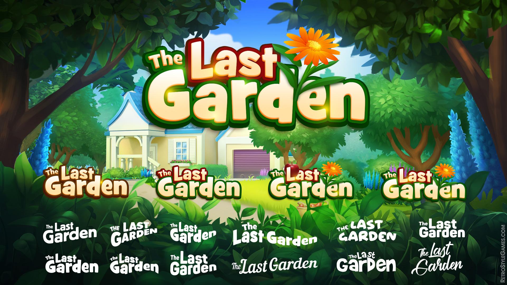 Game Logo Design Concept Title Main Menu Last Garden