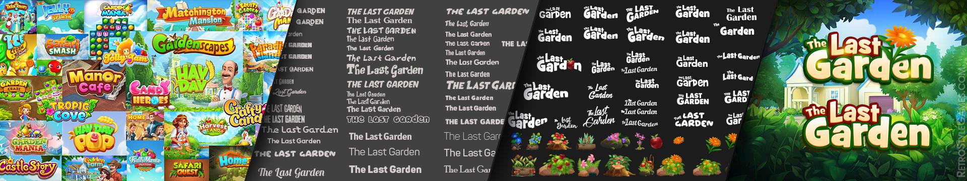 Ref Font Style for Game Logo Draft WIP Last Garden