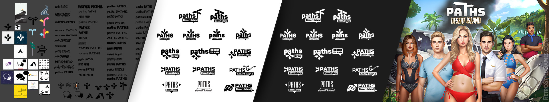 Font Style for Game Logo Draft WIP Variant Testing Paths