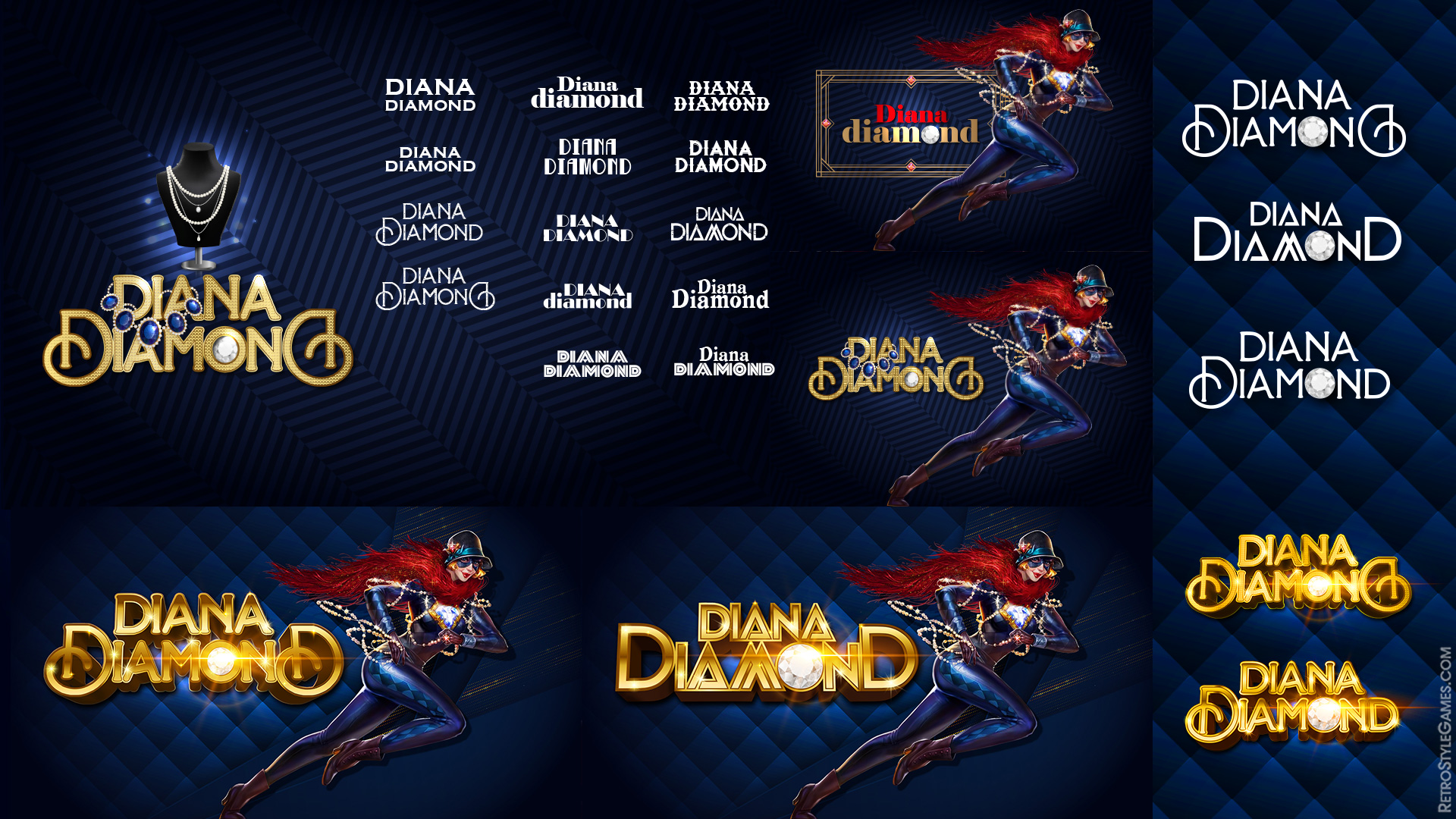 Slot Machines Logo Concept Draft WIP Diana Diamond
