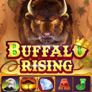 Slot Machines Game Logo Design Concept Font Style WIP Buffalo Rising