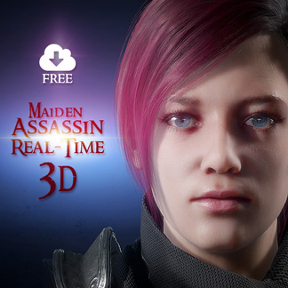 Female Warrior Assassin – Animated 3D Character (Unity / Unreal / FBX)