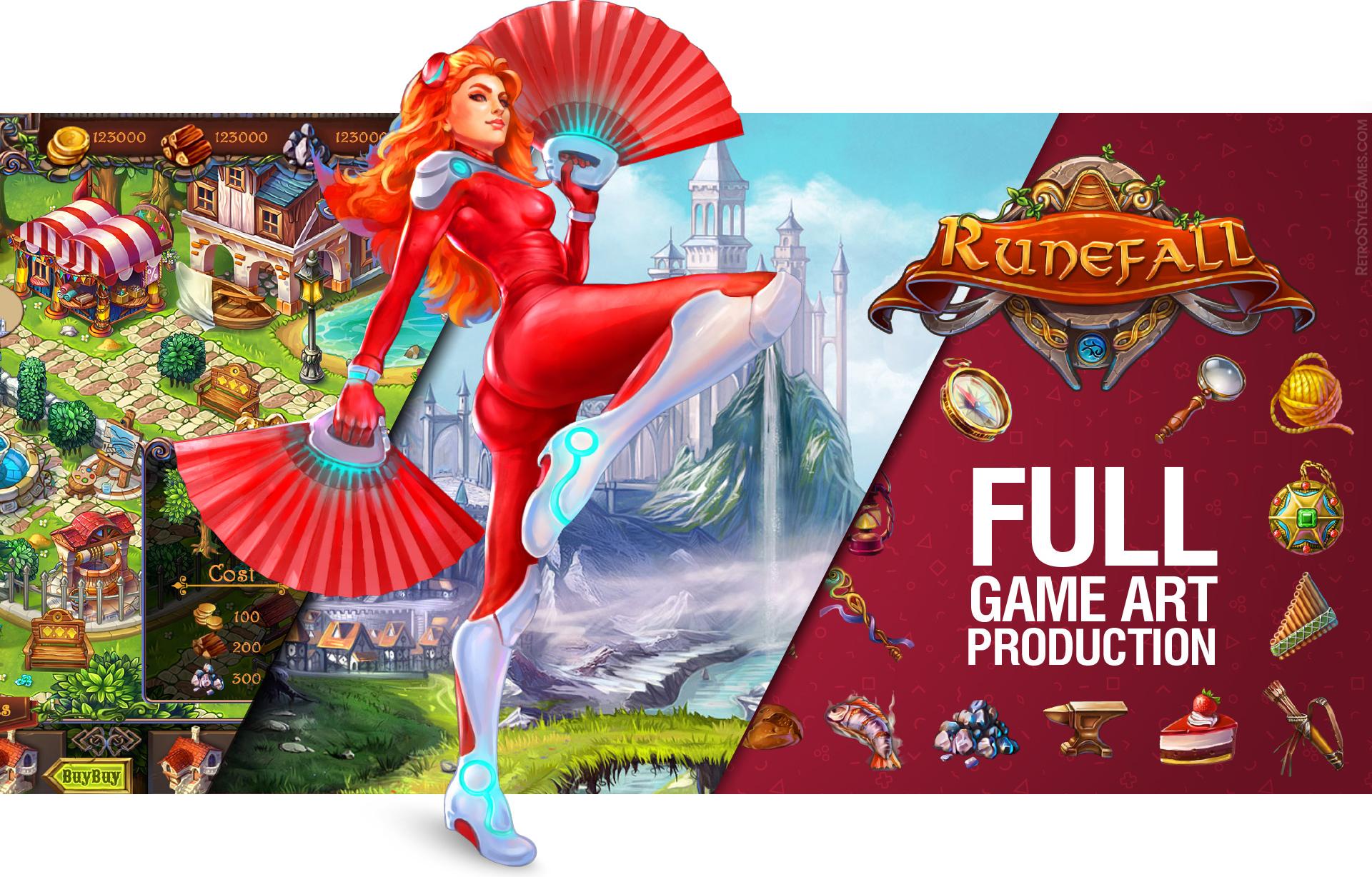 2D 3D Full Game Art Production