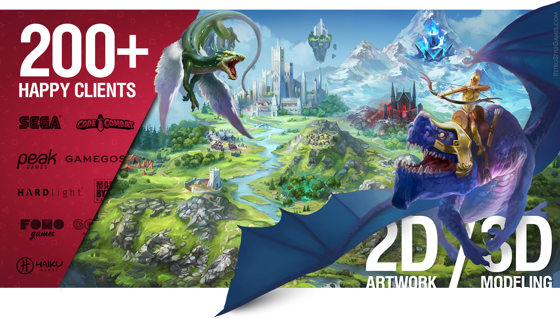 Game Art Outsourcing Services 2D Artwork 3D Modeling