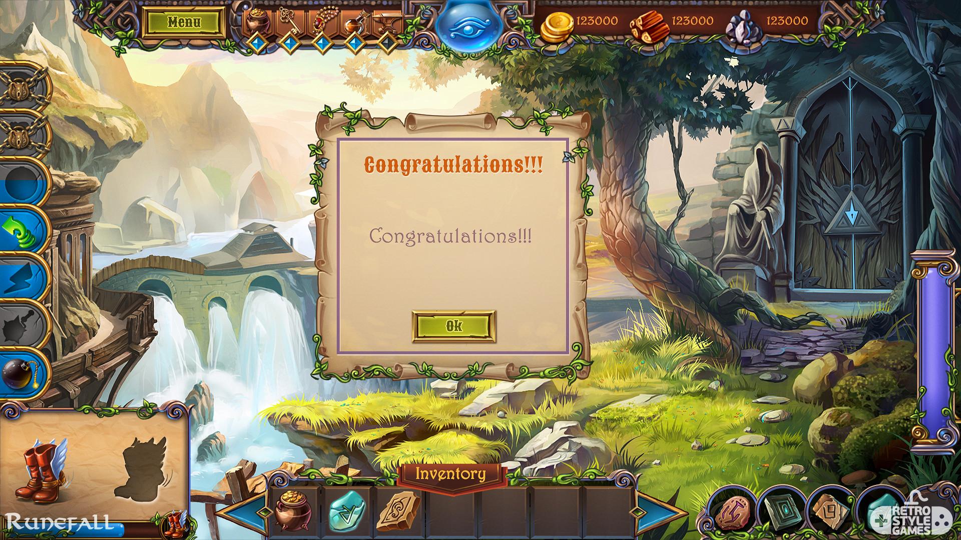 Game User Interface Runefall Match3 GUI