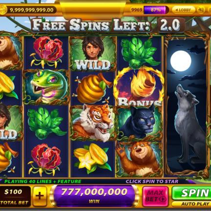 Slot Machine Game Icon Jungle Book Mowgli