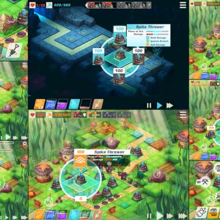 Spatial UI Game Elements Aqua TD