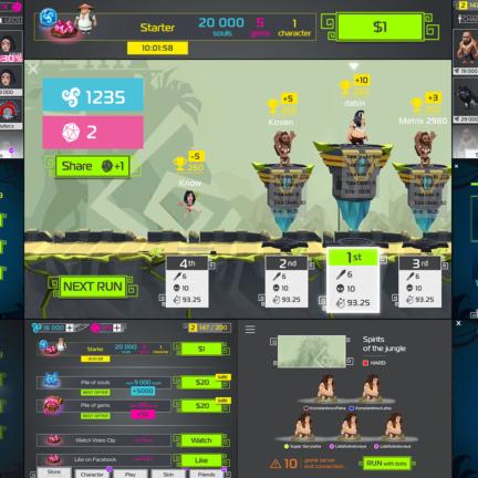 UI UX Design Services for Spirit Run Multiplayer